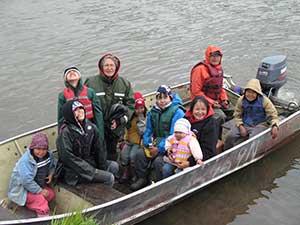 Float coats at fish camp